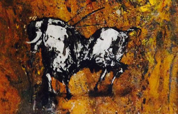 Toro 2013 25x34 Original Painting - Gino Hollander