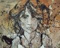 Magdalena 2006 30x38 Original Painting - Gino Hollander