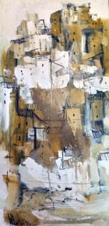 Untitled IV 1978 43x23 Original Painting by Gino Hollander