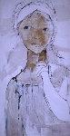 Girls Face And Torso 1967 48x24 Original Painting - Gino Hollander