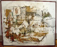 Absract Dwelling 1967 25x30 Original Painting by Gino Hollander - 1