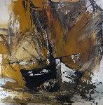 Untitled Painting 1980 43x43 Original Painting - Gino Hollander