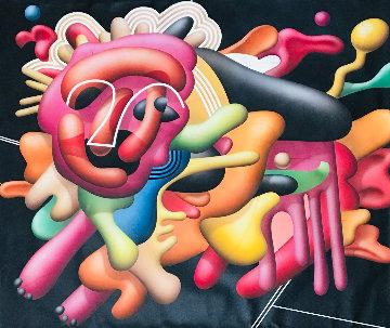 Lion 1987 36x36 Original Painting by Yankel Ginzburg