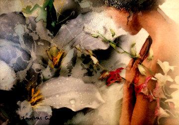 Conscientious Dialogue Study 2005 19x22 Original Painting - Yankel Ginzburg
