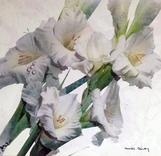Loving White 2007 36x36 Original Painting by Yankel Ginzburg