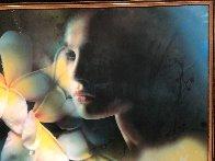 Raindrops 2003 30x45 Super Huge Original Painting by Yankel Ginzburg - 1