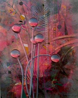 Twilight in My Garden 1987 Limited Edition Print - Yankel Ginzburg