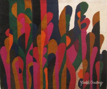 Untitled Wool Tapestry 73x81 Huge Tapestry - Yankel Ginzburg