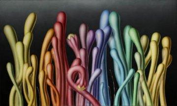 Running Colors America 72x120 Mural Huge Original Painting - Yankel Ginzburg