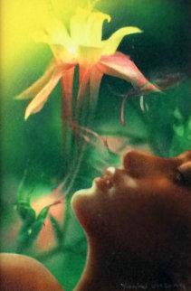 Study For Daydreaming Watercolor 2004 Watercolor - Yankel Ginzburg