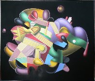 Candy Store 38x46 Huge Original Painting by Yankel Ginzburg - 1