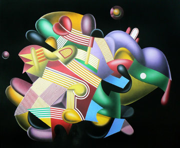 Candy Store 38x46 Original Painting - Yankel Ginzburg