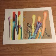 Feline And Ladders 1983 Limited Edition Print by Yankel Ginzburg - 1