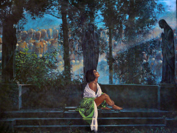 Waiting for a Sunbeam 38x47 Super Huge  Limited Edition Print - Walter Girotto