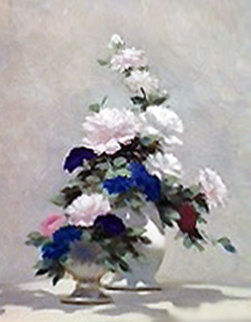 Floral Still Life 26x22 Original Painting - Andre Gisson
