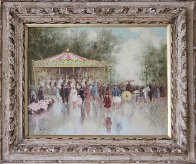 Carousel 24x28 Original Painting by Andre Gisson - 1