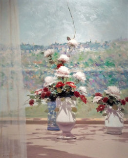 Untitled (Two Bouquets) 1988 37x31 Original Painting by Andre Gisson