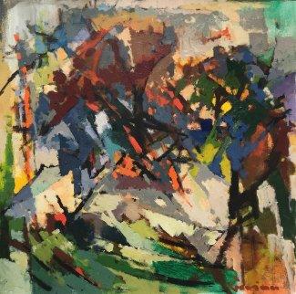 Maple Trees 2017 24x24 Original Painting - Kamal Givian