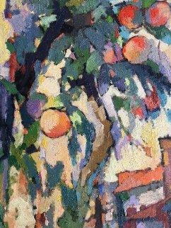 Peach Tree 2017 48x24 Original Painting - Kamal Givian