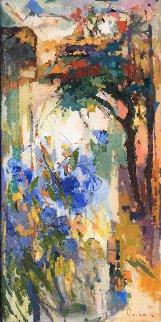 Blue Glory  48x24 in Original Painting - Kamal Givian