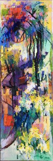 Sunset 72x24 Inch Original Painting - Kamal Givian