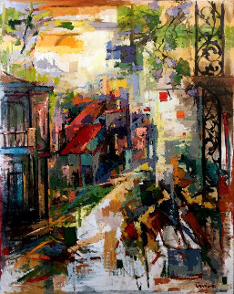 Southern City (New Orleans) 60x48 Original Painting by Kamal Givian