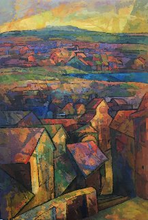Jerusalem 1985 56x37 Original Painting - Kamal Givian