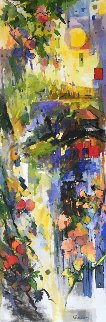 Apple Tree 72x24  Original Painting - Kamal Givian