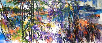 Purple 36x84 Super Huge  Original Painting - Kamal Givian