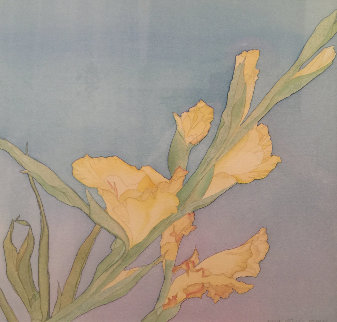 Gladiolus Watercolor 1981 21x20 Watercolor by Carson Gladson