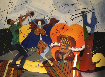 Dancing With Picasso 35x48 Huge Works on Paper (not prints) - Marcus Glenn