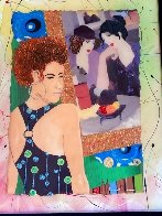 Girrrrl You Gotta See This One II Homage to Tarkay 2013 30x25 Original Painting by Marcus Glenn - 2