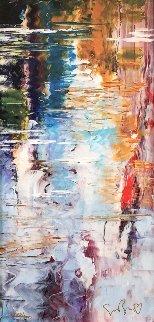 Harmony of Equilibriums Flow Unique 2016 25x31 Original Painting - Marcus Glenn
