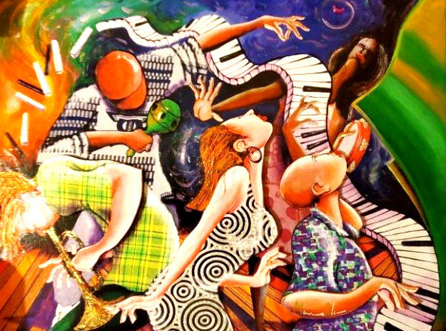 Flipped Flopped, Jazz on Top 2011 Embellished Limited Edition Print by Marcus Glenn