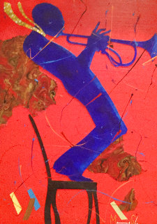 Black Chair Green Tie 2012 30x38 Original Painting - Marcus Glenn