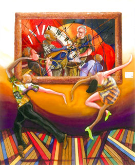 A Dance At the Gallery 2006 Embellished Limited Edition Print - Marcus Glenn