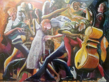 Lip Lockin, Mouth Open, Finger Poppin' Jazz 2001 Limited Edition Print by Marcus Glenn