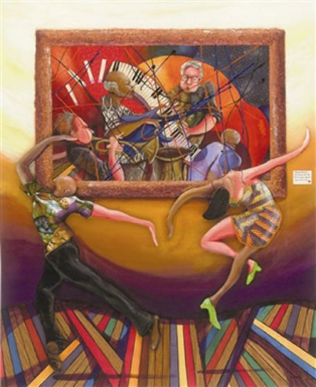 Dance at the Gallery 2006 AP Embellished Limited Edition Print by Marcus Glenn