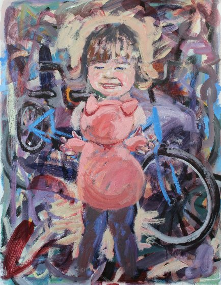 Mine And a Woman's Child 2017 54x40 Original Painting by David  Glynn