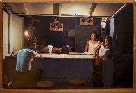 Late Night Meal 1951 28x40 Super Huge Original Painting by Robert Gniewek - 1