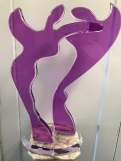 Purple Love Acrylic Sculpture 2011 27 in Sculpture - Alfred Gockel