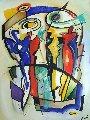 Feels Like Heaven 2016 65x47 Original Painting - Alfred Gockel