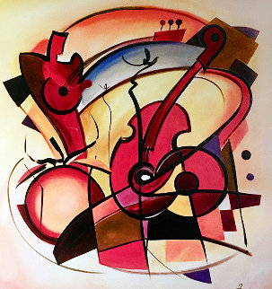 Cello Duet AP 2004 Limited Edition Print by Alfred Gockel