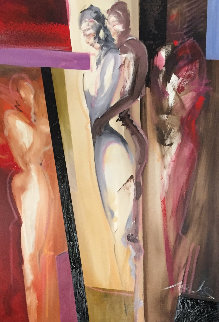 Stand By Me Tonight 2014 39x27 Original Painting - Alfred Gockel