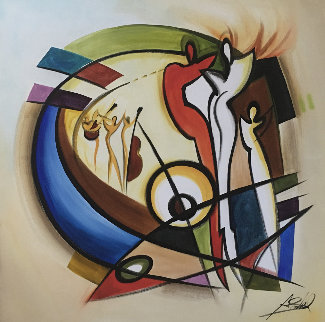 Dance III 2004 60x60 Original Painting - Alfred Gockel