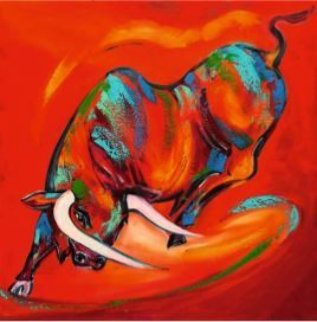 Colored Bull III 2018 Limited Edition Print - Alfred Gockel