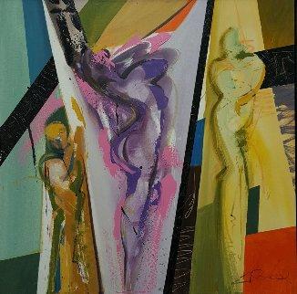 Moment of Glory 33x33 Original Painting - Alfred Gockel