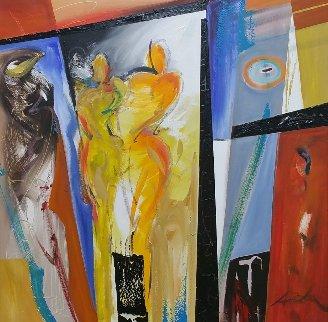 Paradox 38x38 Original Painting - Alfred Gockel
