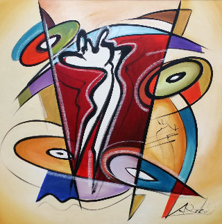 Rythmn And Time 2016 41x41 Super Huge Original Painting - Alfred Gockel