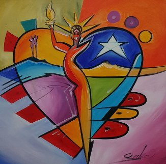 Under Her Spell 2016 31x31 Original Painting by Alfred Gockel